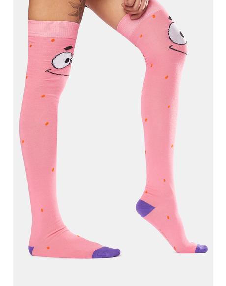 Spongebob Patrick Knee Socks