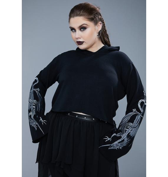 Widow There's A Certain Doom Cropped Sweatshirt