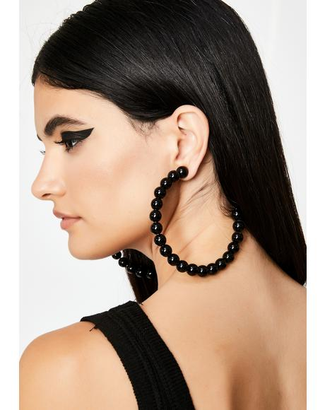Wicked Hot Gossip Hoop Earrings