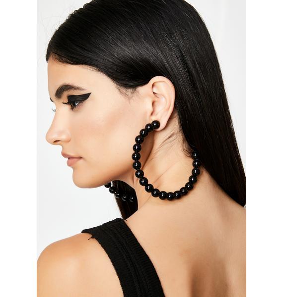 Wicked Hot Gossip Hoop Earrings