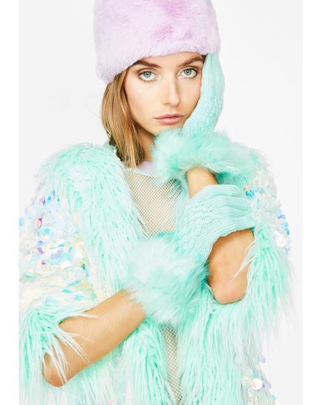 Lux Fantasy Fur Trim Gloves