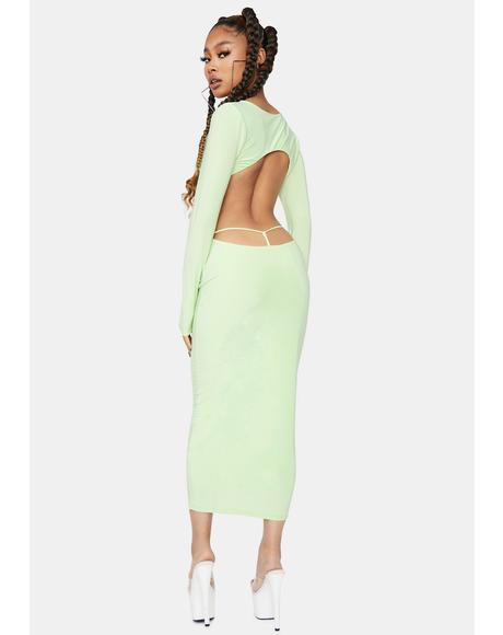 Bad Intentions Cutout Back Maxi Dress