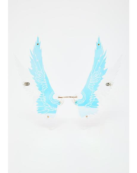Angel Wings Iridescent Sunglasses