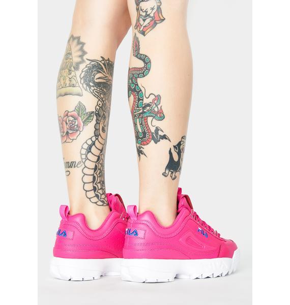 Fila Pink Disruptor II Premium Sneakers