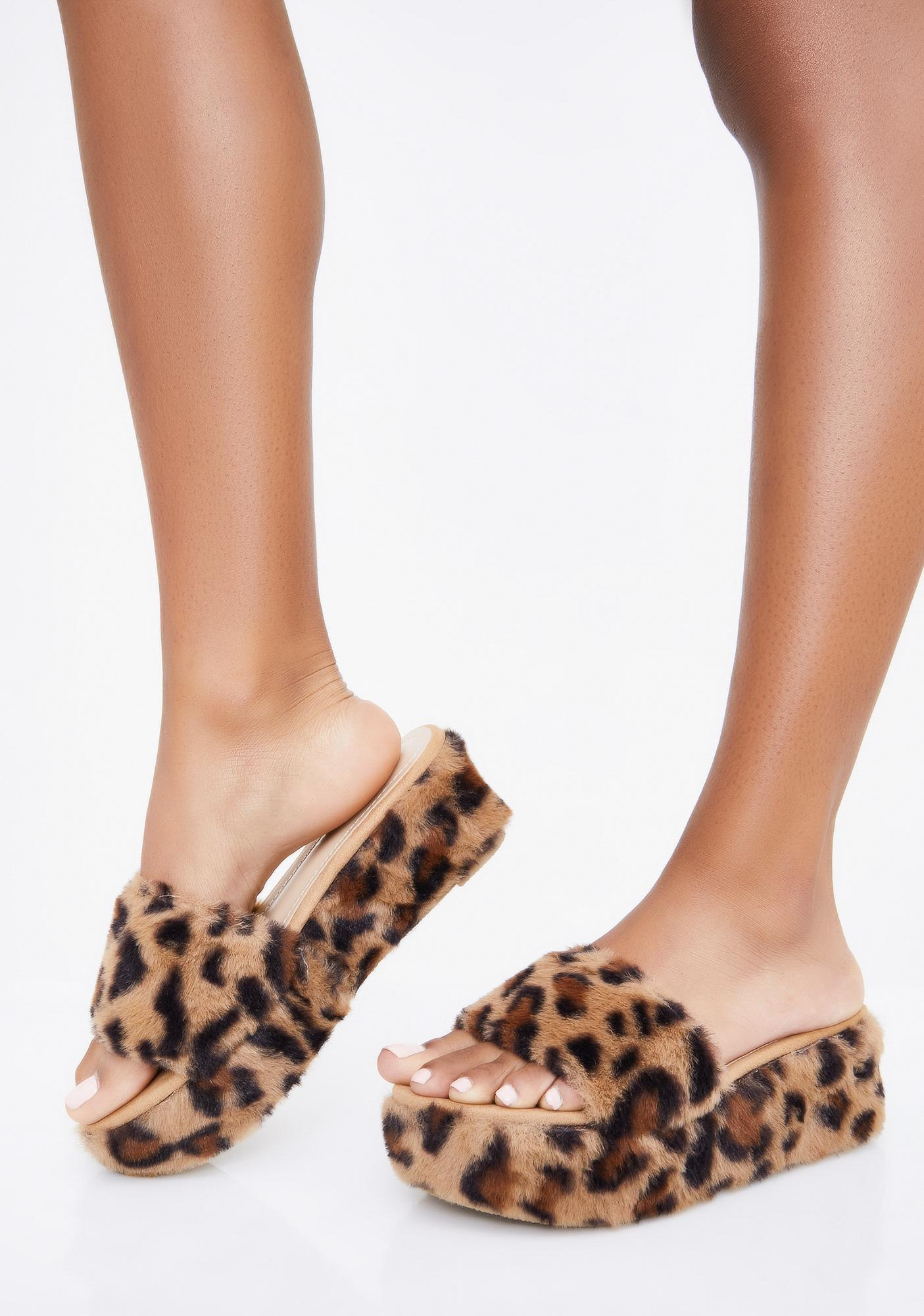 Mocha Sweet Kitty Platform Slides by