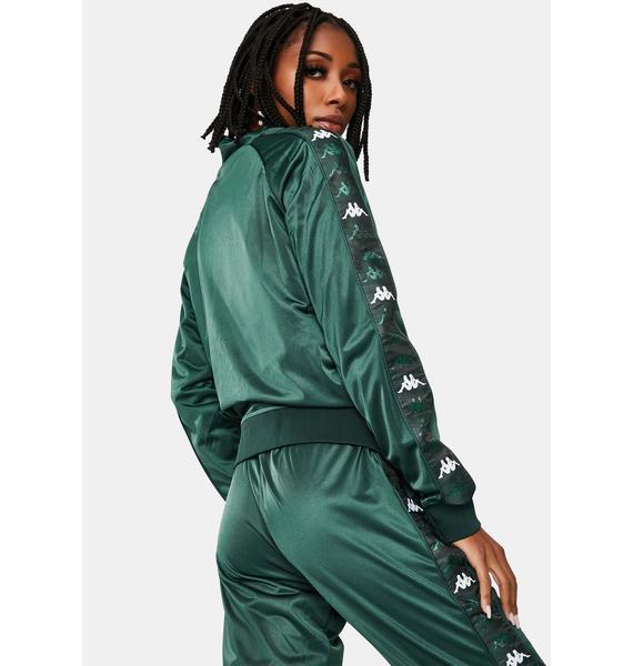 Kappa Green 222 Banda Blaston Track Jacket
