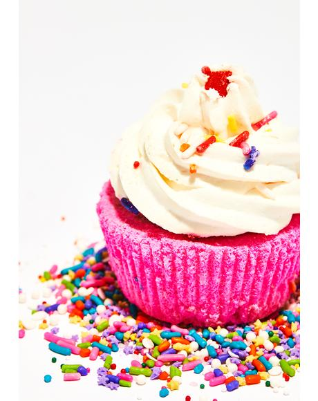 Birthday Cake Butter Cream Cupcake Bath Bomb