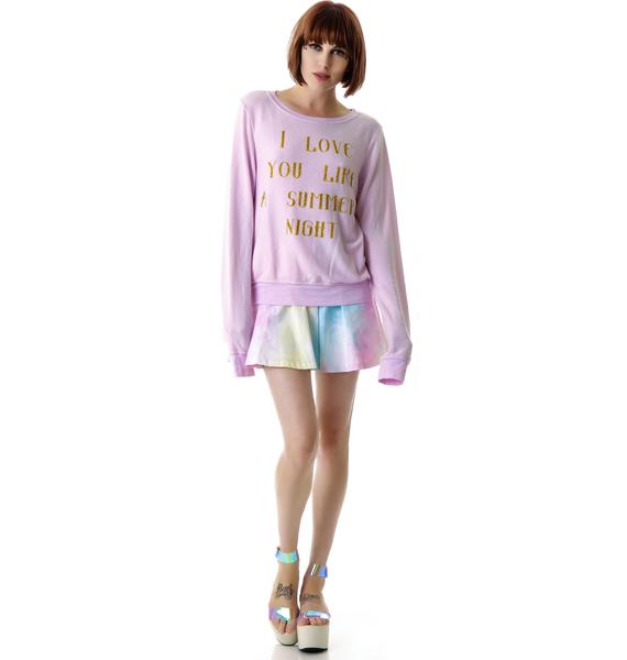 Wildfox Couture Love You Like Summer Baggy Beach Jumper