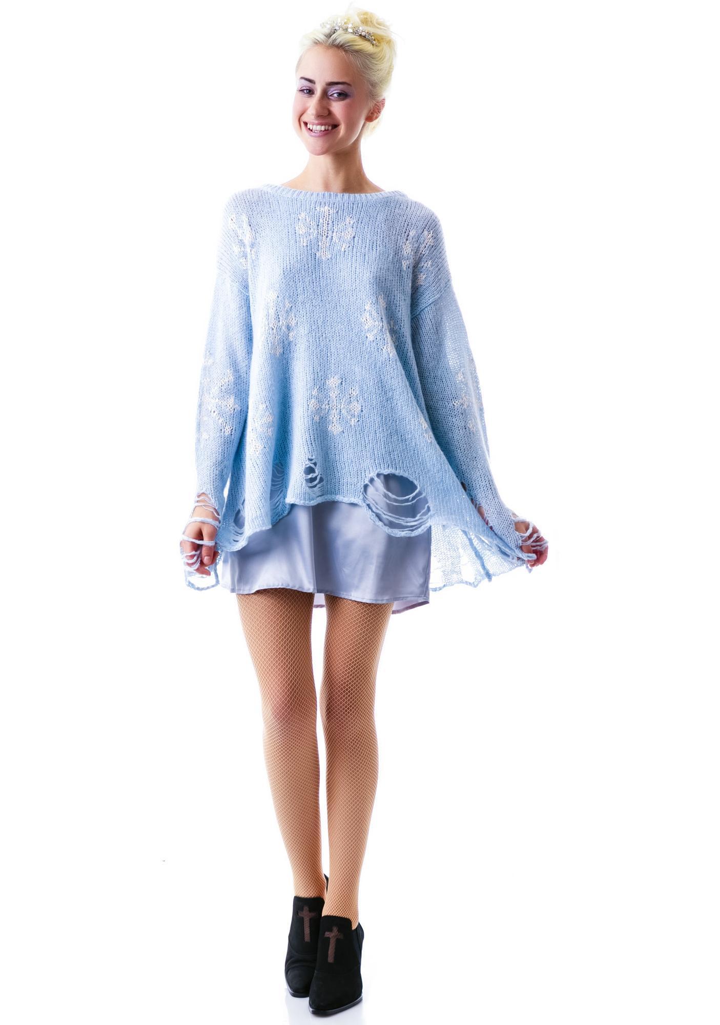 Wildfox Couture Snowflake Lennon Sweater