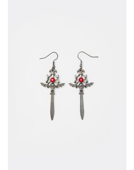 Mortal Wound Dagger Earrings