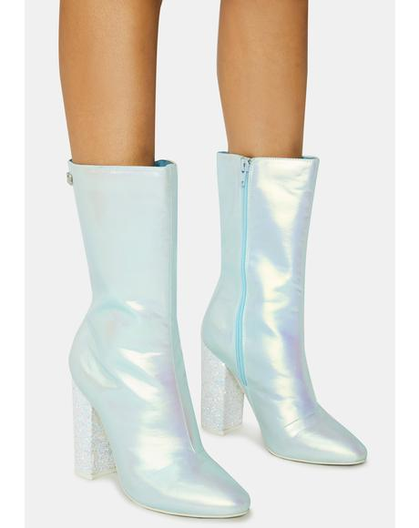 Blue Fairy Mini Boots
