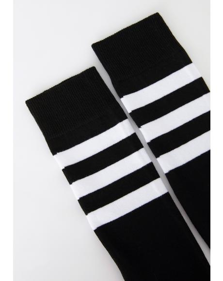 Flag On The Play Thigh High Socks