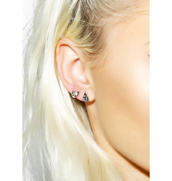 Rock n Rose Pizza Emoji Earrings