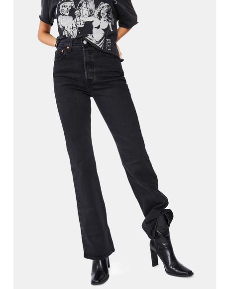 Black Bayou Ribcage Denim Jeans