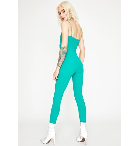 Emerald Serve Bawdy Underwire Jumpsuit