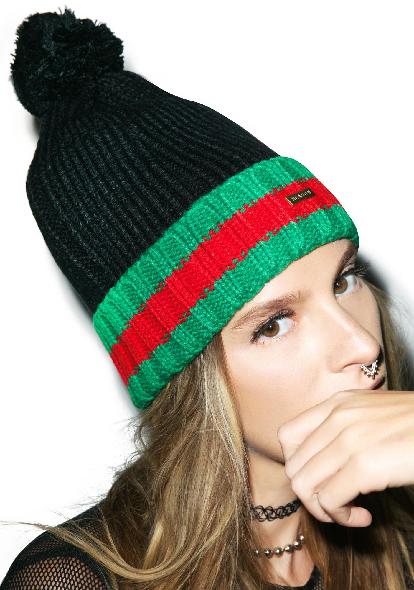Reason GG Stripe Knit Beanie
