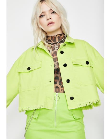 Electric Privileged Princess Crop Jacket