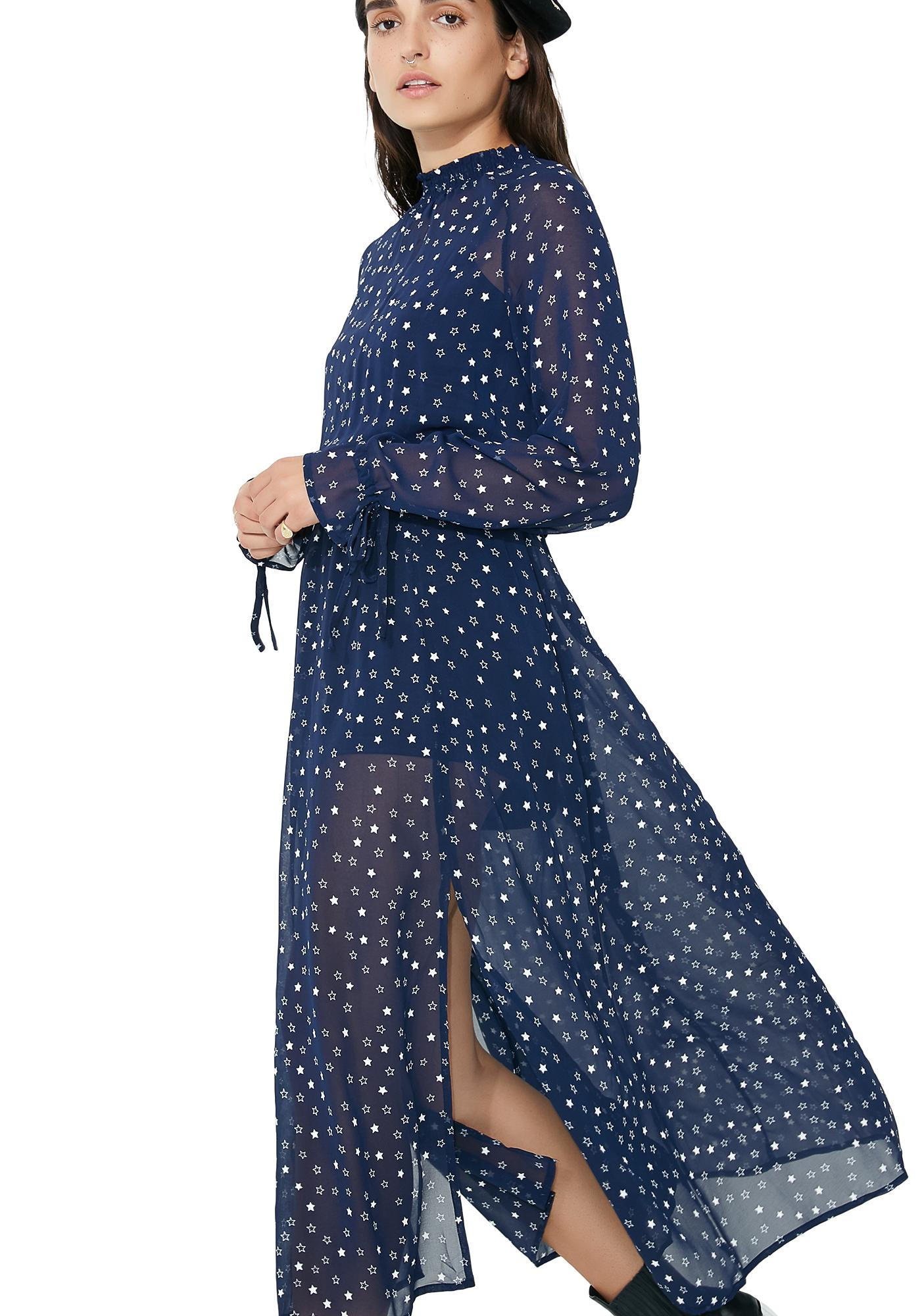 Glamorous Twilight Shadows Maxi Dress