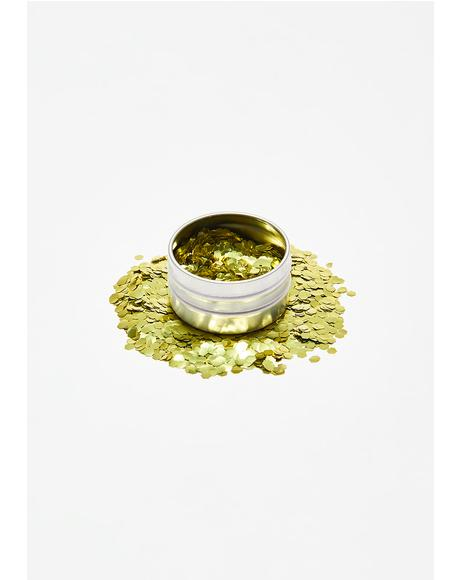 Ultra Chunky Biodegradable Gold Glitter