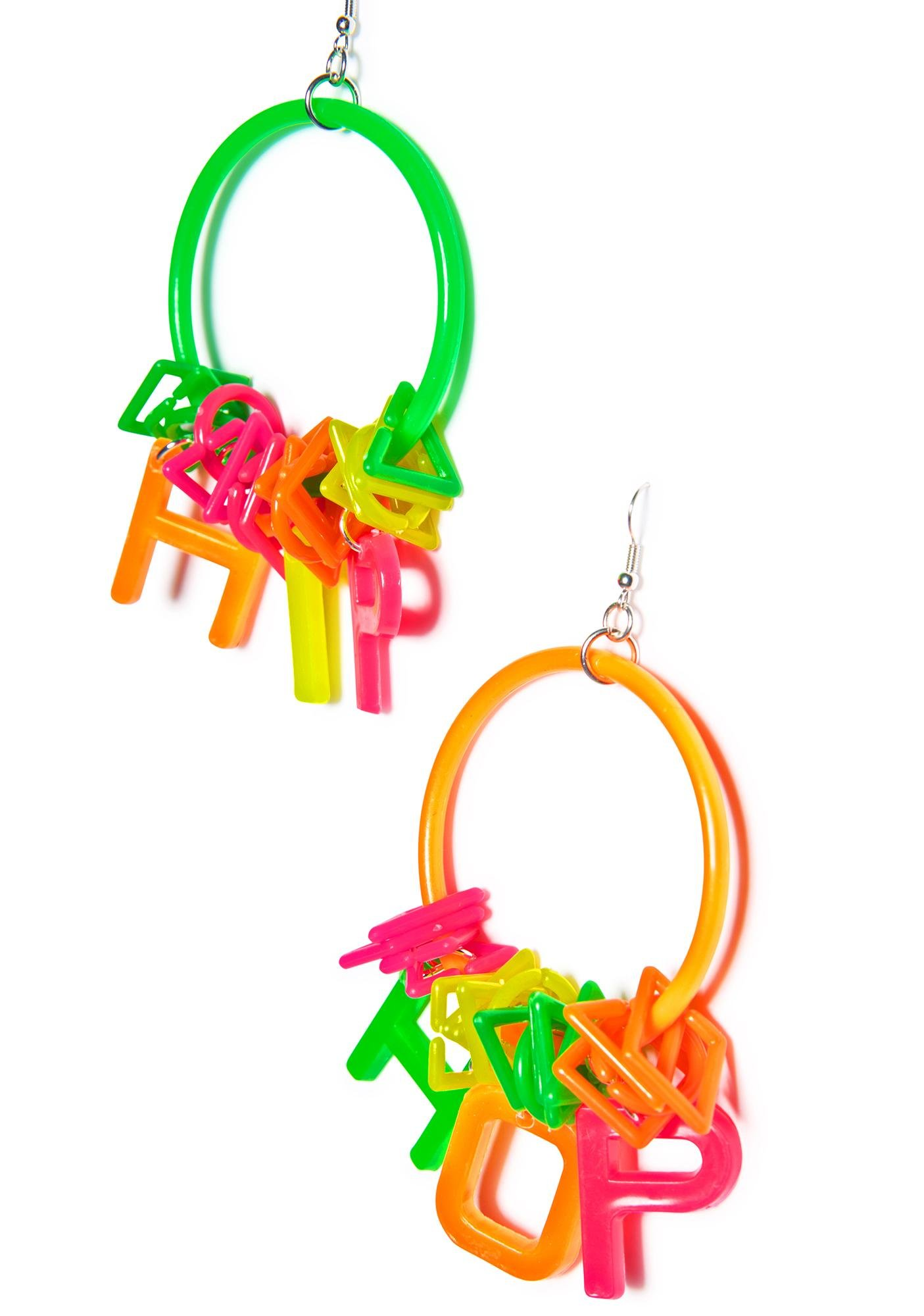 Trixy Starr Hip Hop Hoop Earrings