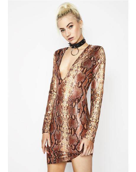 Slitherin' Thru Bodycon Dress