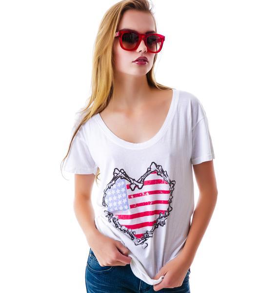 Bones Heart Flag Tee