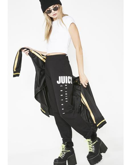 Black Multi- Juicy Logo Pants