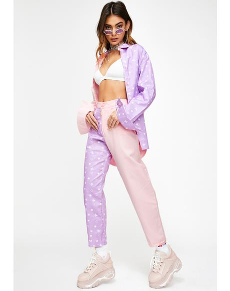 Pink N' Lilac Mismatch Trousers