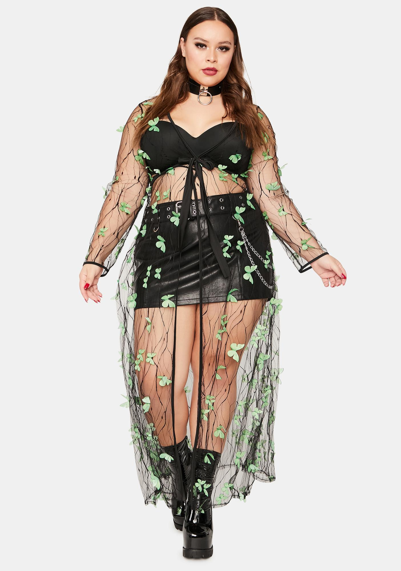 Lush True Fairy Haven Sheer Butterfly Duster