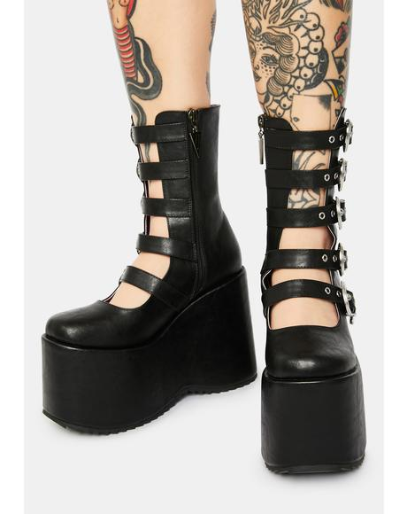 Wicked High N Mighty Buckle Strap Platforms