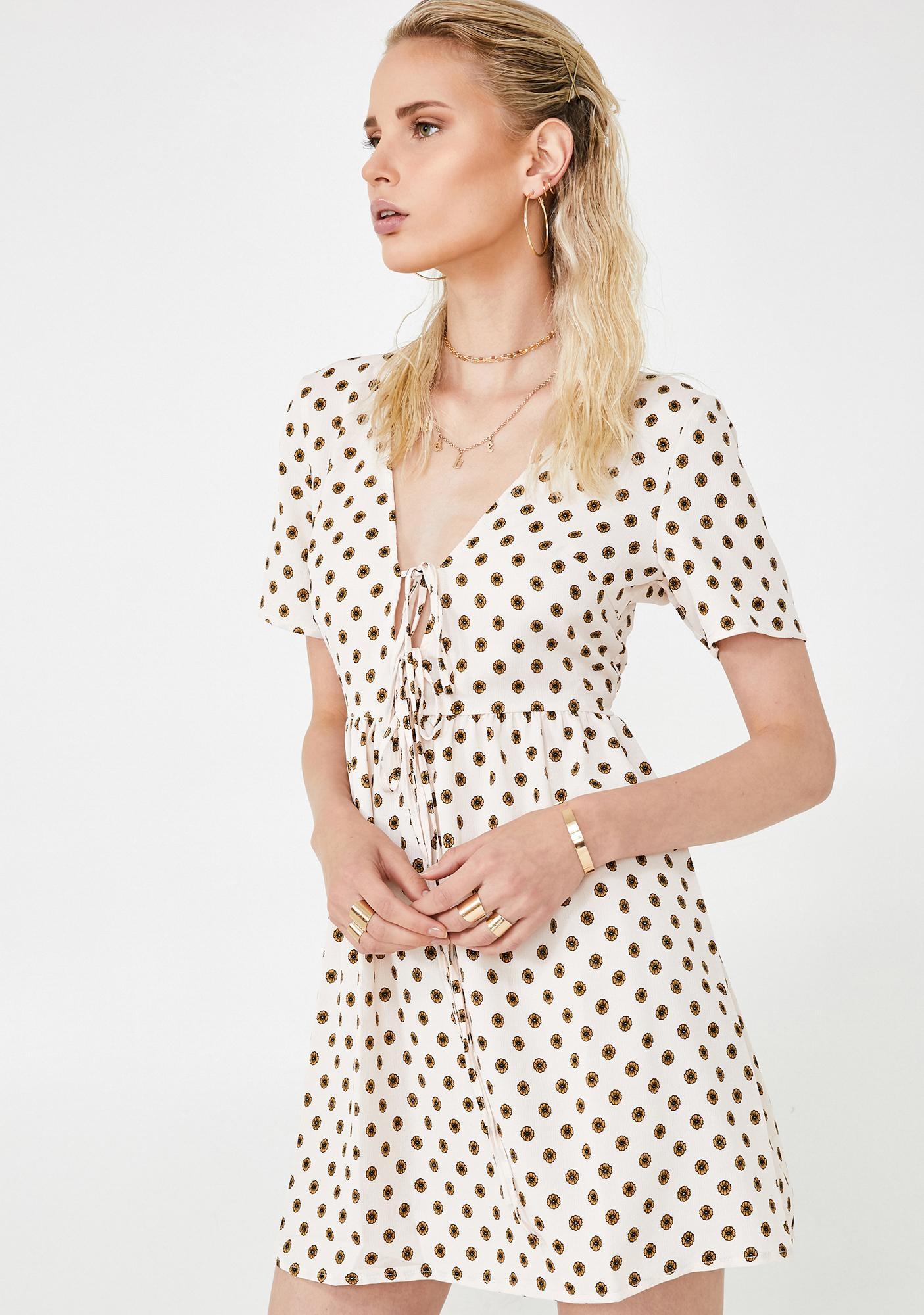 Glamorous Chic Life Polka Dot Dress