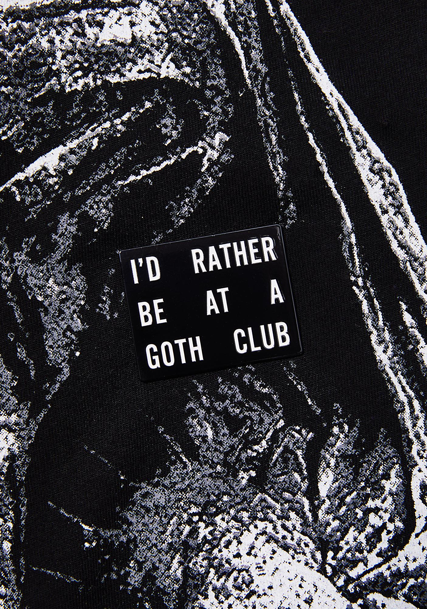 Last Craft Goth Club Pin