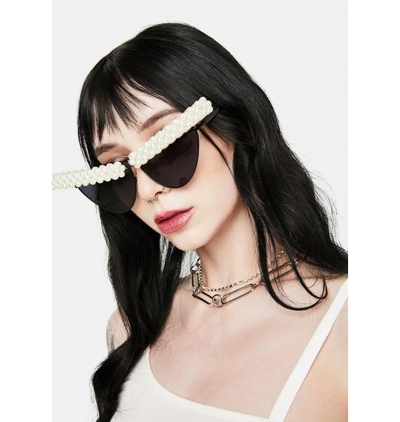 Noir U Come in Clutch Pearl Cat Eye Sunglasses
