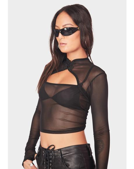 Dark Inferno Mesh Top
