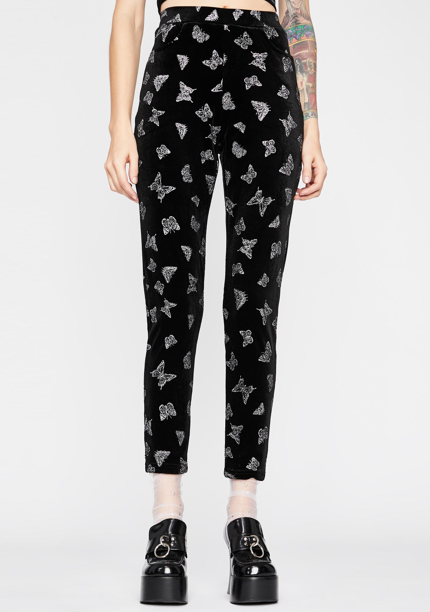 Cute Complex Butterfly Pants