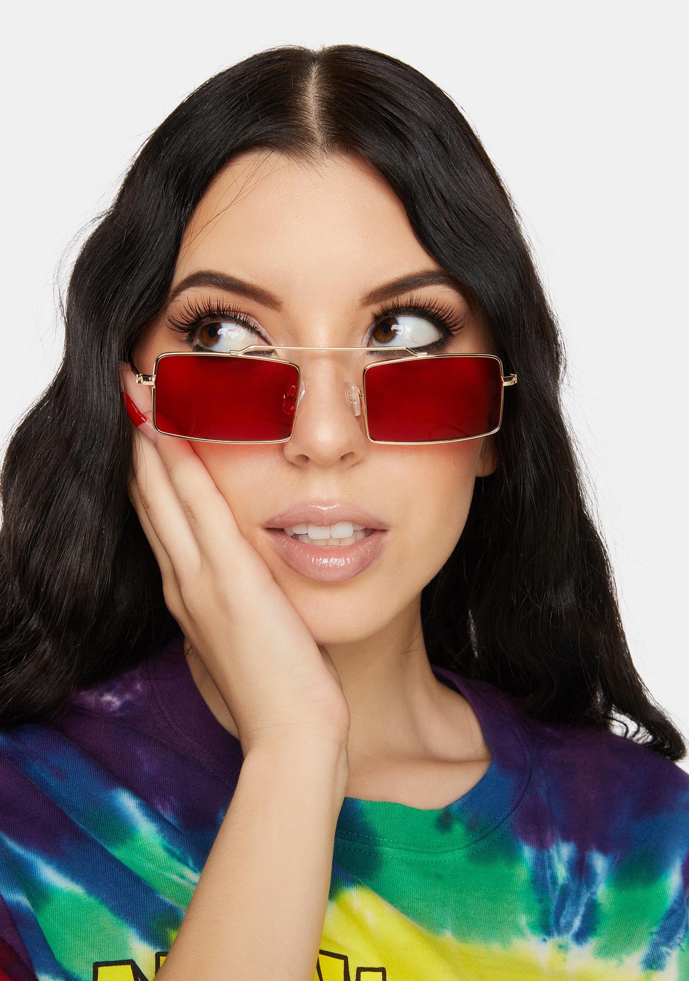 Retro Fly Rectangular Sunglasses