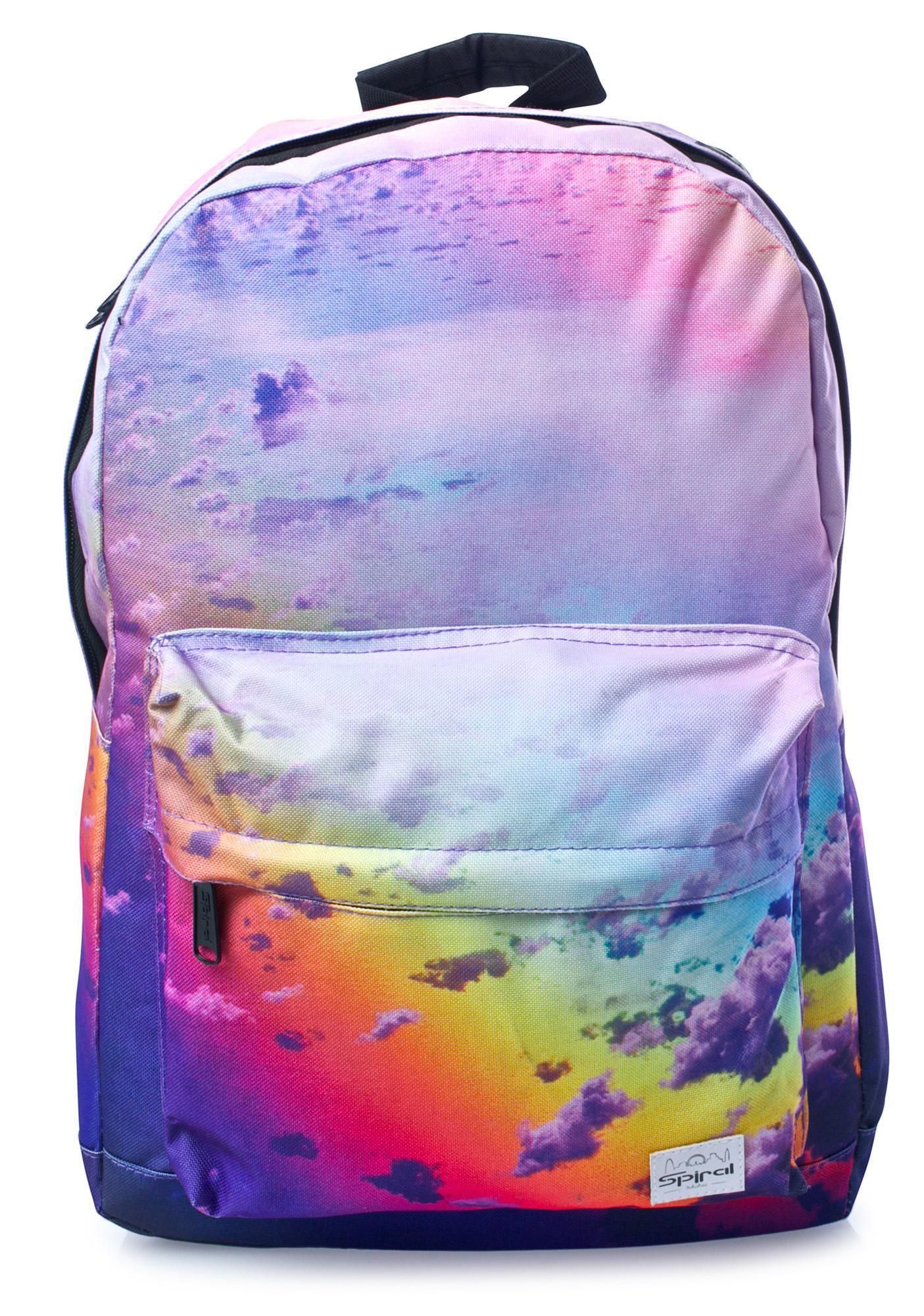... Spiral UK Rainbow Clouds OG Backpack ...