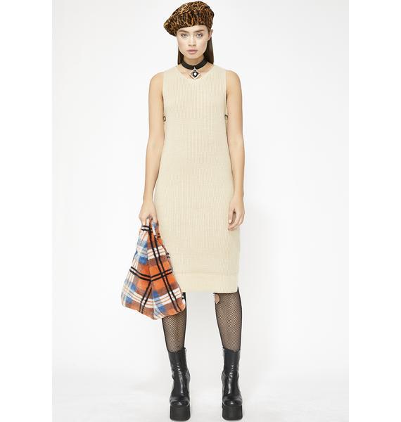 Neutral Ground Sweater Dress