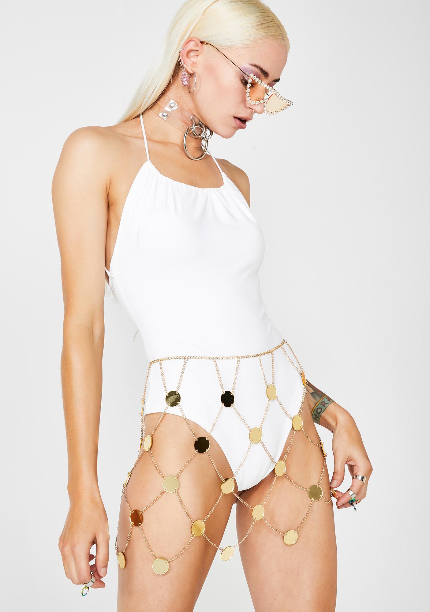 Liquid Sunlight Chain Skirt