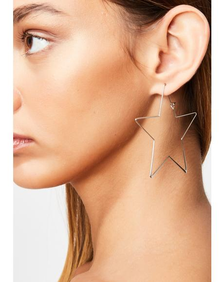 Fortune Fame Star Earrings