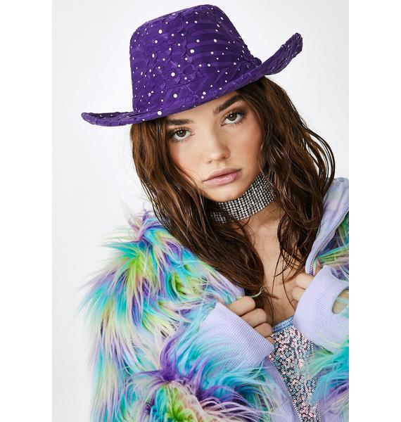 Purp Moonshine Magic Cowgirl Hat