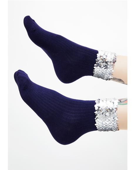 Sparkle Baby Sequin Socks