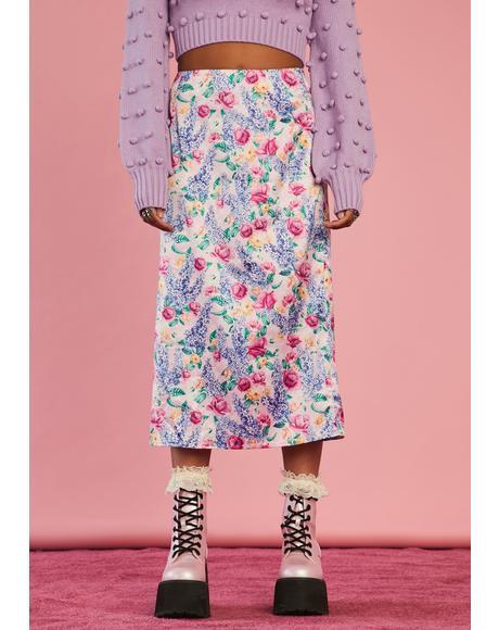 Riverbank Reflections Midi Skirt