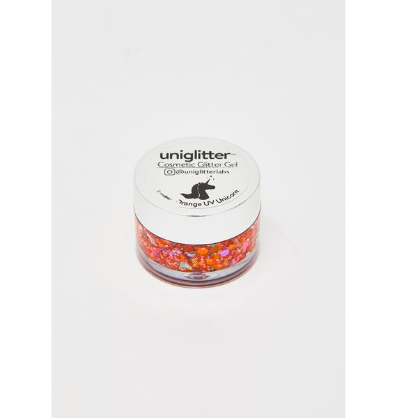 Uniglitter Ember Orange UV Unicorn Glitter Gel