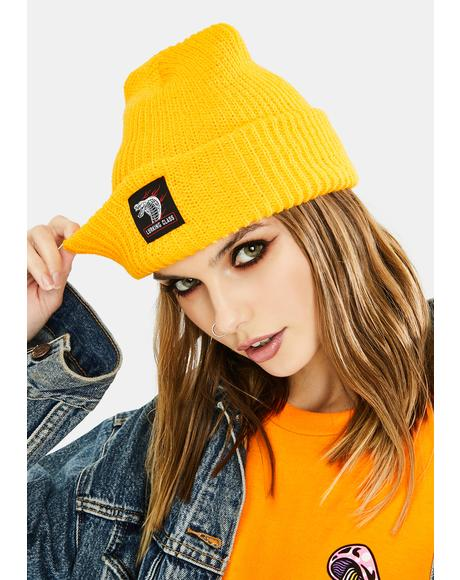 Yellow Cobra Knit Beanie