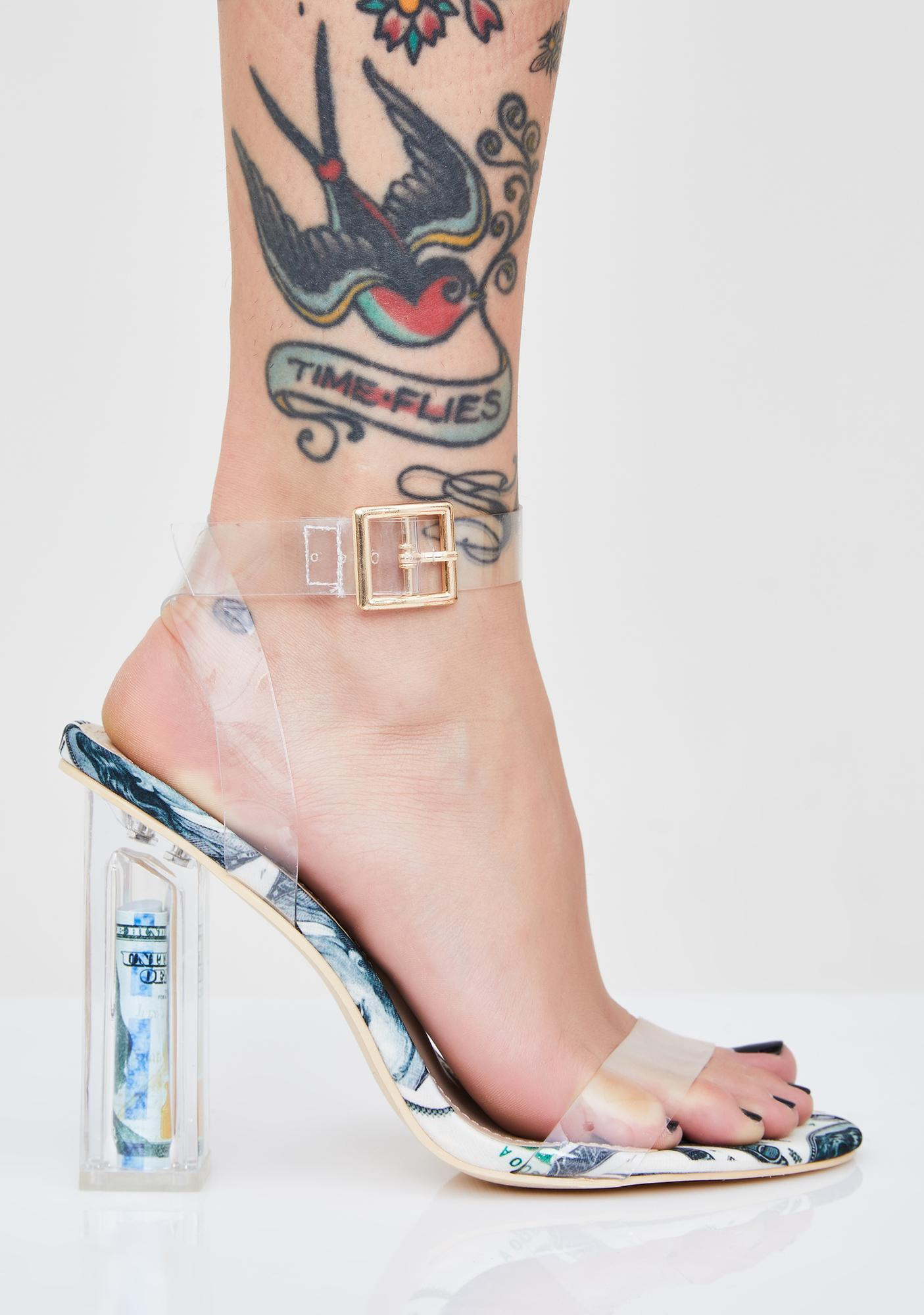 Real Money Made Clear Heels