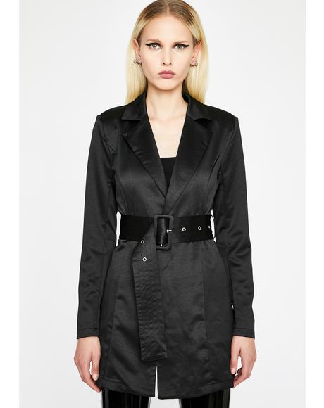 Why So Serious Belted Blazer