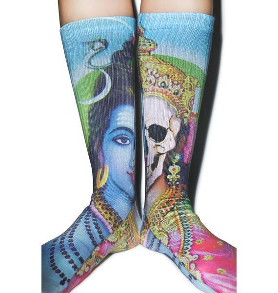 Mishka Split Personality Socks