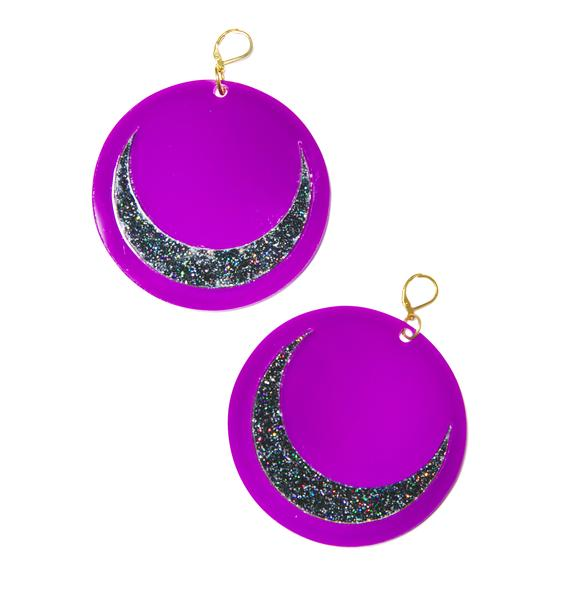 Marina Fini Luna Moon Earrings