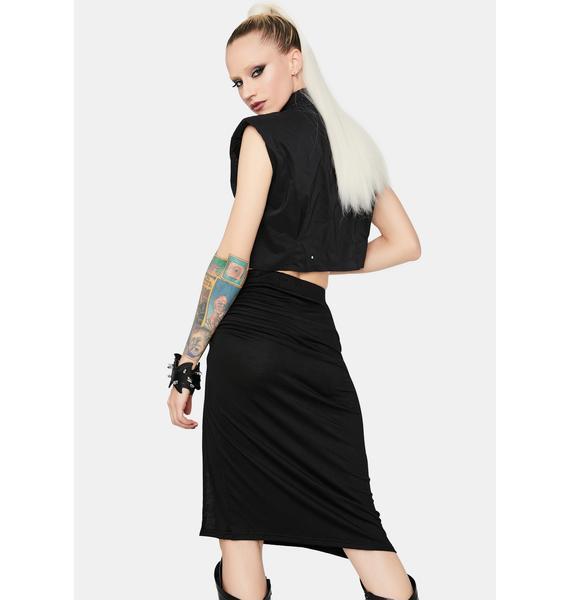 Right Path High Waist Split Skirt